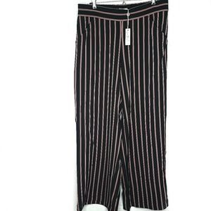 MAX STUDIO | Boho Striped Wide Leg Palazzo Pants